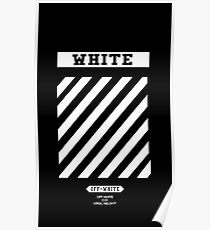 Off White Black Poster