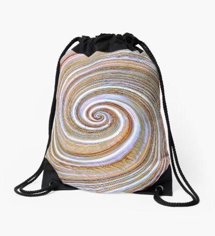 A close up of a cake on Fibonacci table Drawstring Bag