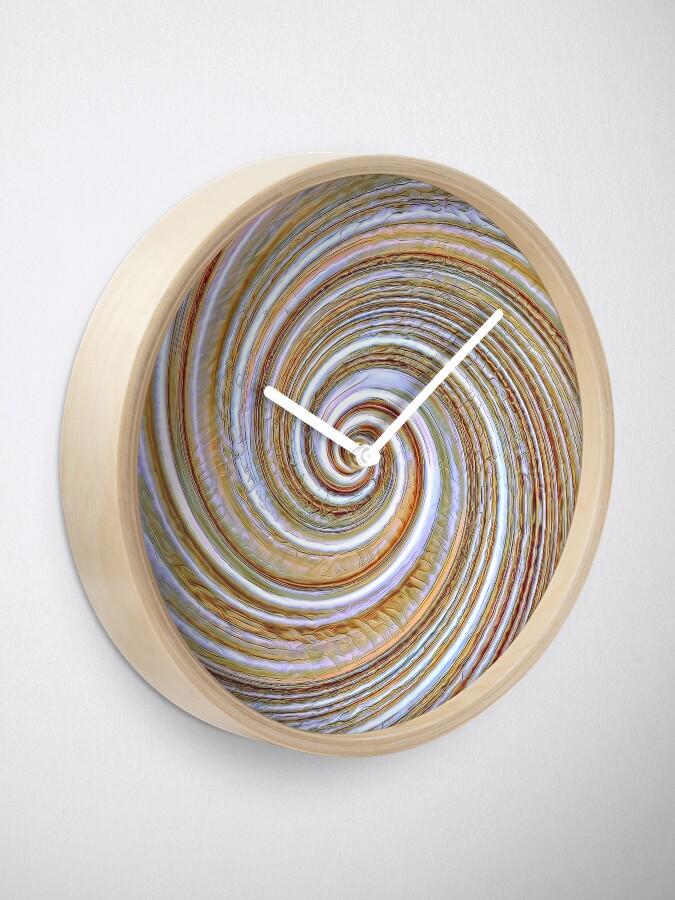Alternate view of A close up of a cake on Fibonacci table Clock
