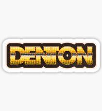 Denton   Retro Chrome Sticker