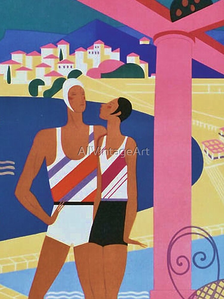Vintage Monte Carlo Travel Poster by AllVintageArt