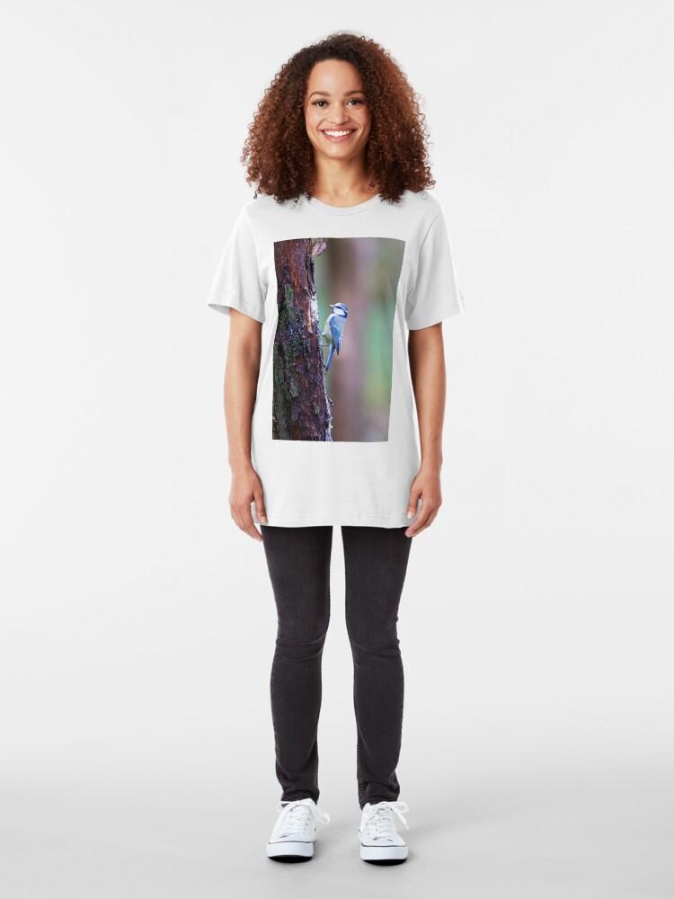 Alternate view of Blue Tit (Cyanistes caeruleus) Slim Fit T-Shirt