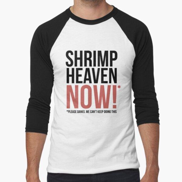 Shrimp Heaven NOW! Baseball ¾ Sleeve T-Shirt