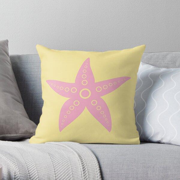 Pink Sea Star Throw Pillow