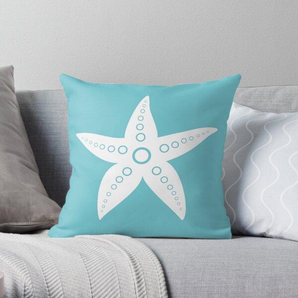 White Seafish Throw Pillow