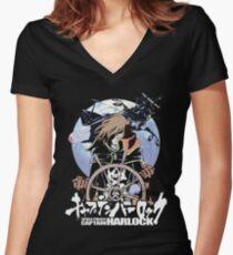 Weltraumpirat 03 Shirt mit V-Ausschnitt