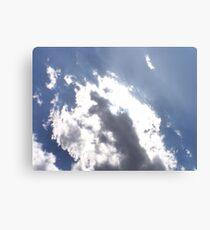 Sun Behind the Clouds Canvas Print