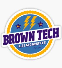Back To The Future - Brown Tech Sticker