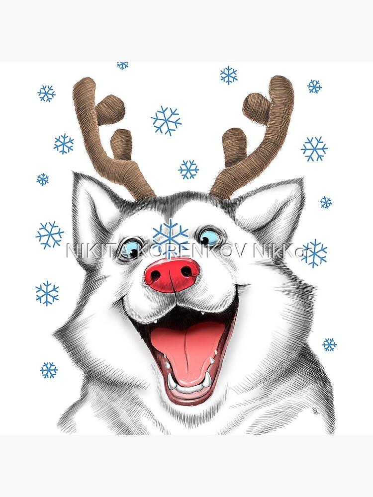 Husky Rudolph by NikKor