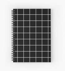 grid, white and black Spiral Notebook