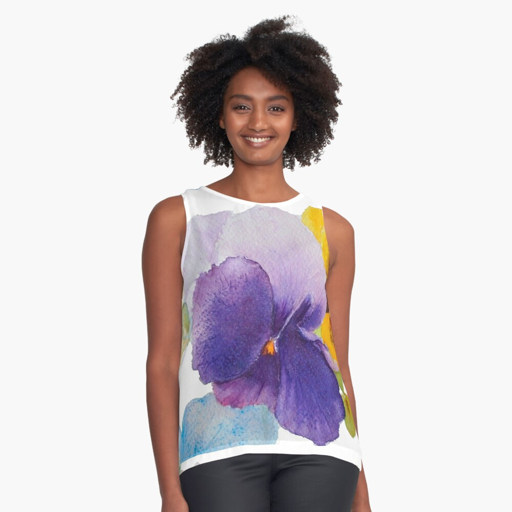 A thought Contrast Tank Front