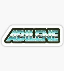 Abilene   Retro Chrome Sticker