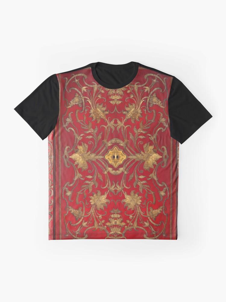 Alternative Ansicht von Red 'portefuille' Buchcover mit Goldfaden und Schloss, 1764 Grafik T-Shirt