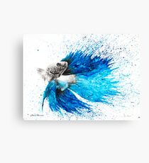 Phthalo Fish Tail Canvas Print