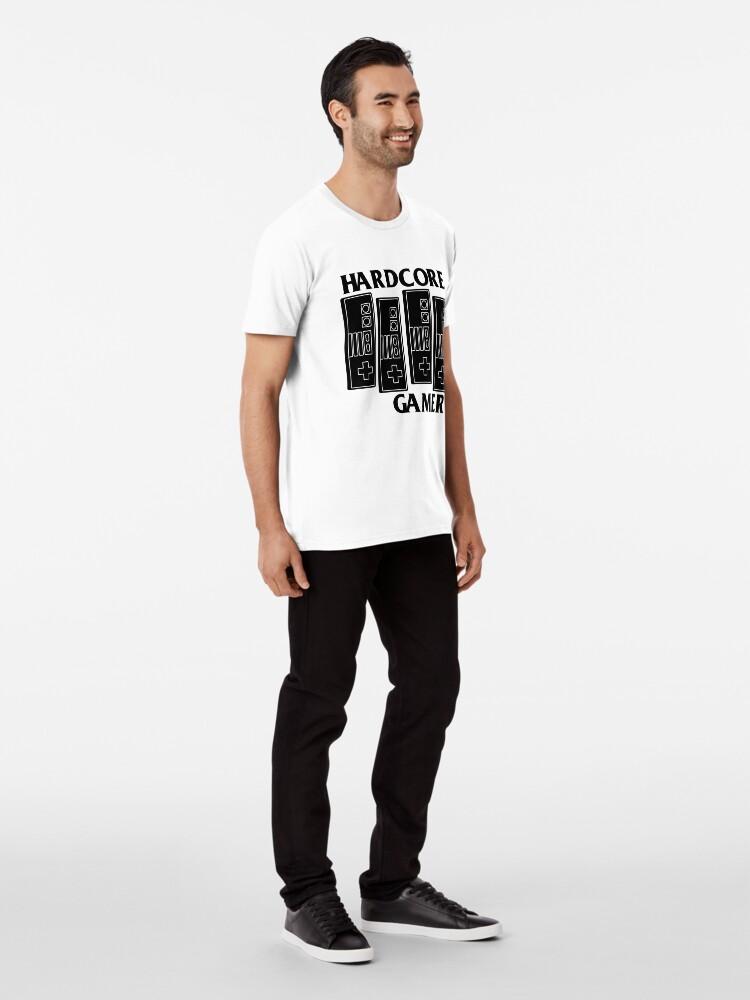 Vista alternativa de Camiseta premium HARDCORE GAMER