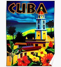 """CUBA"" Vintage Travel Print Poster"