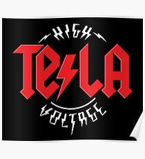 Tesla High Voltage Poster