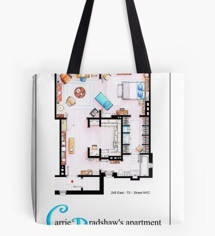 Carrie Bradshaws apartment as a Poster (TV version) Tote Bag