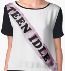 Teen idle sash marina and the diamonds Women's Chiffon Top