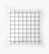grid, black and white Throw Pillow
