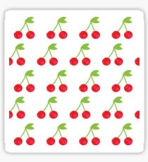 Red cheries on white design Sticker