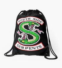 southside serpents riverdale Drawstring Bag