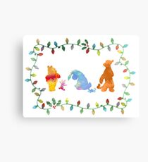 Christmas Friends Inspired Silhouette Canvas Print
