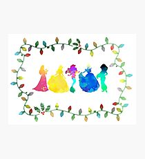 Christmas Princesses Inspired Silhouette Photographic Print