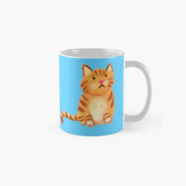 Ginger Cat on blue Classic Mug