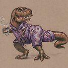 Tyrannosaurus Rex in Cat Jammies by justteejay