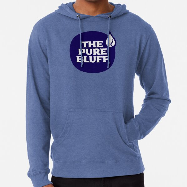 The Pure Bluff Logo (Blue) — APPAREL Lightweight Hoodie