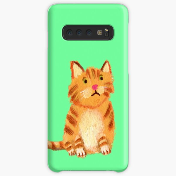 Ginger Cat on green Samsung Galaxy Snap Case
