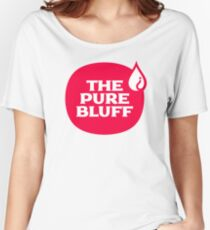 The Pure Bluff Logo (Red) — APPAREL Women's Relaxed Fit T-Shirt