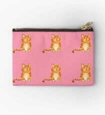 Ginger Cat on pink Studio Pouch