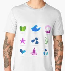 WELLNESS ICONS ON WHITE Men's Premium T-Shirt