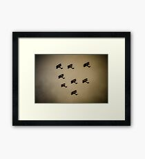 WW1 fighter squadron biplanes Framed Print