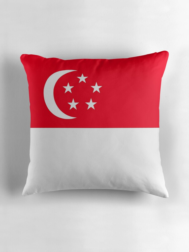 "Flag of Singapore"" Throw Pillows by Countries Flags"