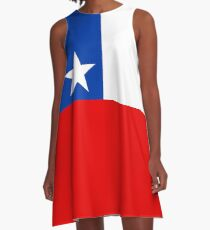 Flag of Chile A-Line Dress
