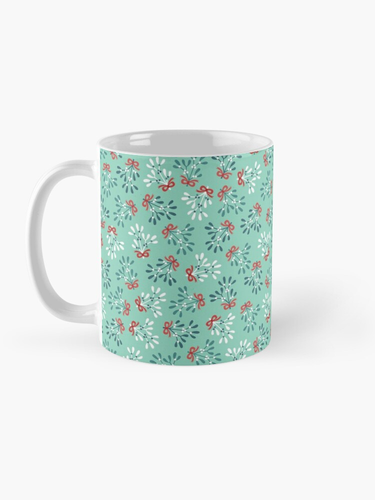 Alternate view of Ditsy mistletoe Mug