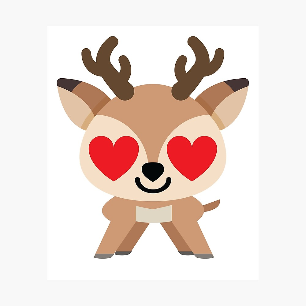 Reindeer Emoji Photographic Print By Hippoemo Redbubble