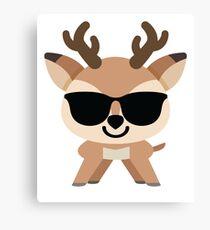 Reindeer Emoji  Canvas Print