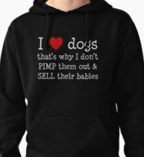 Funny dog rescue design Pullover Hoodie