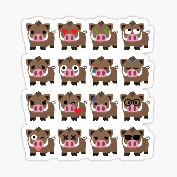 Wild boar Emoji  Sticker