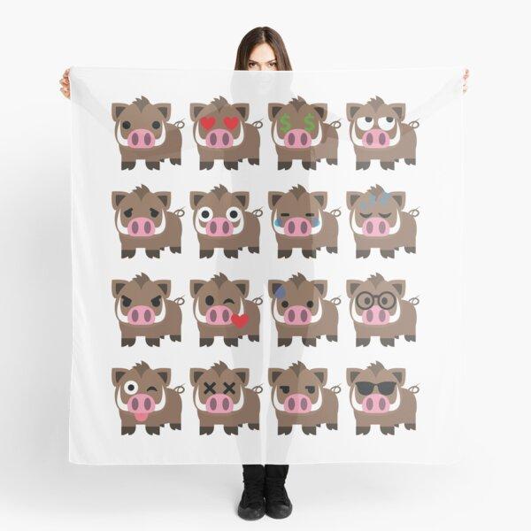 Wild boar Emoji  Scarf