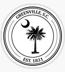 Greenville Palmetto Tree  Sticker