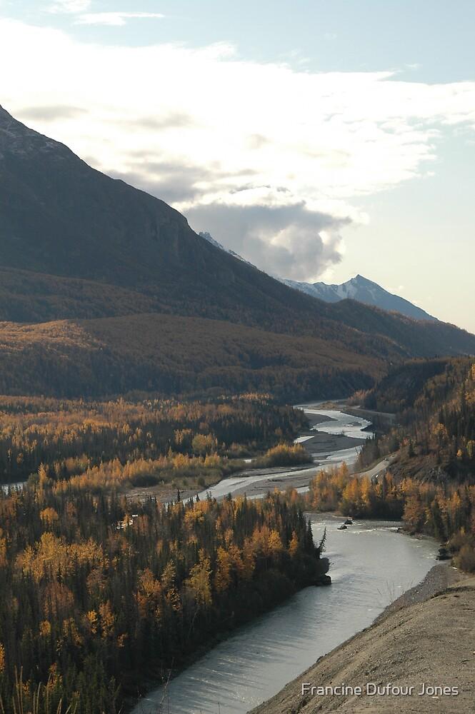 Matunuska River in Alaska by Francine Dufour Jones