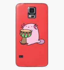 Axolotl Die Djembe spielen Hülle & Klebefolie für Samsung Galaxy