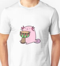 Axolotl Playing the Djembe T-Shirt