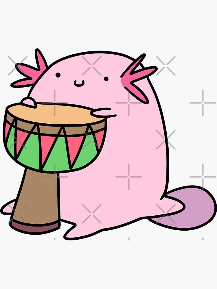 Axolotl Playing the Djembe by SaradaBoru