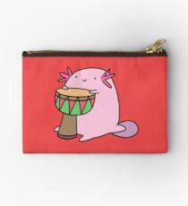 Axolotl Playing the Djembe Studio Pouch